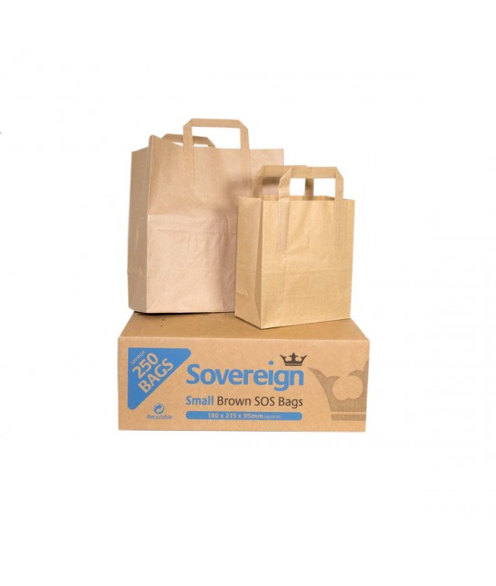 MEDIUM TAKEAWAY BAGS (1X250) SOS